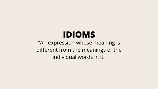 what is idioms?